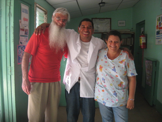 Peter Enrique and Alma at Huehuete clinic 2010